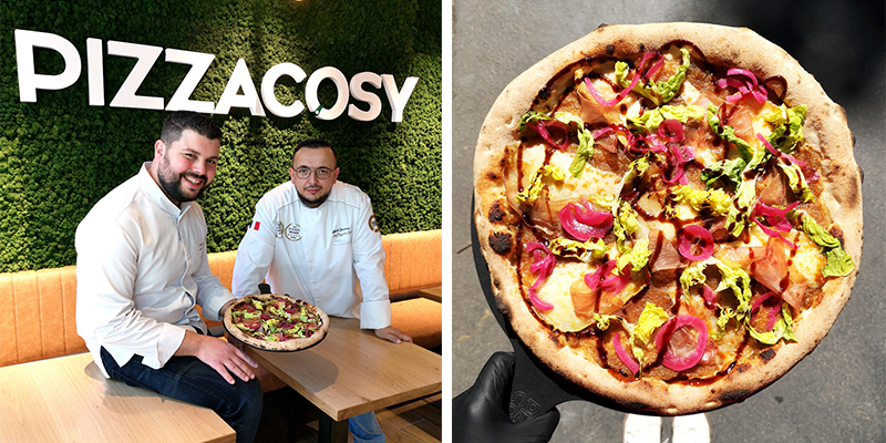 PIZZA COSY COLLABORE AVEC GRATIEN LEROY (TOP CHEF)